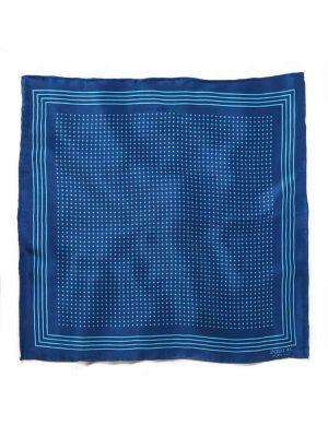 Silk Polka Dot Blue Pochette