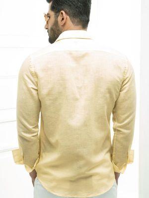 Armin Linen Cotton Slim Fit Pintuck Shirt