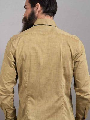 Aztec Ochre Cotton Slim Fit Printed Shirt