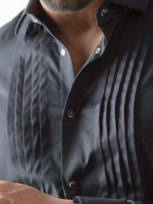 Daniel Black Slim Fit Tuxedo Shirt