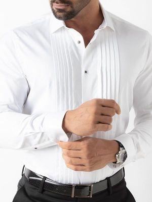 Daniel White Slim Fit Tuxedo Shirt