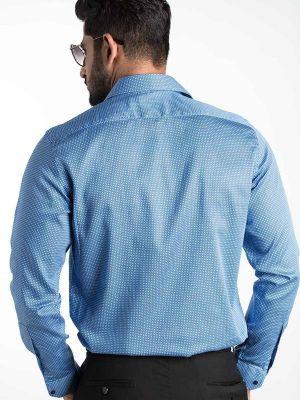 Diego Blue Slim Fit Printed Shirt