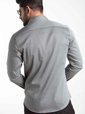 Diego Black Blended Slim Fit Printed Shirt