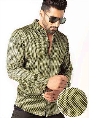 Dominic Green Slim Fit Printed Shirt