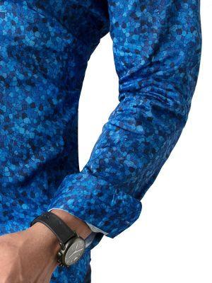 Felix Cobalt Slim Fit Printed Shirt