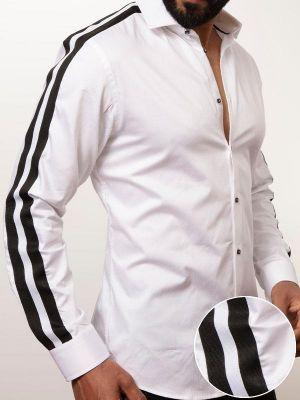 Flavio White Slim Fit Solid Shirt