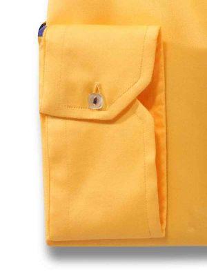 Giorgio Yellow Slim Fit Solid Shirt