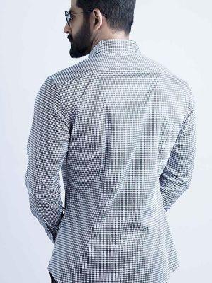 Headhunter Black Slim Fit Printed Shirt