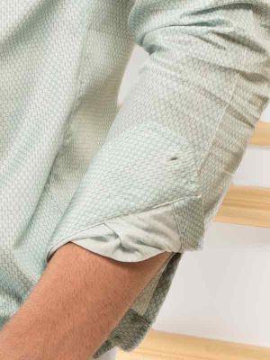 Murphy Green Slim Fit Printed Shirt
