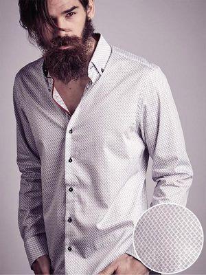 Nemo Miller White Printed Slim Fit Shirt