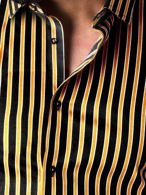 Rafa Ochre Slim Fit Stripe Shirt