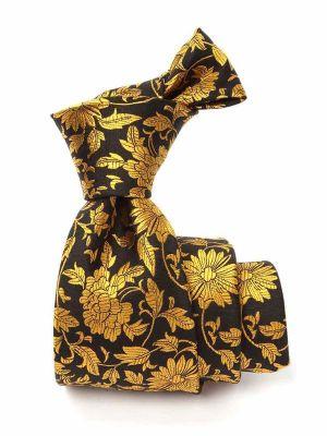 Bartoli All Over Dark Gold Silk Tie