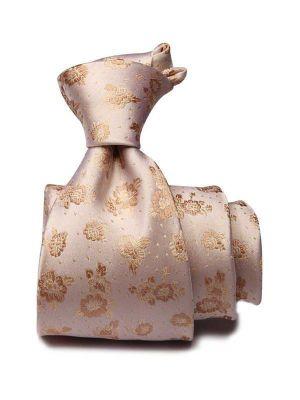 Bartoli All Over Medium Beige Silk Ties