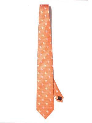 Bartoli All Over Medium Orange Silk Ties
