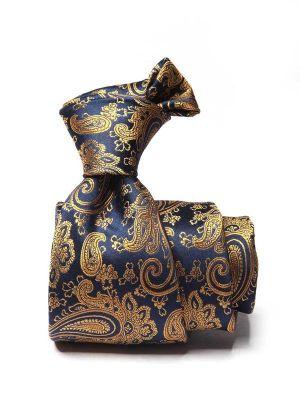 Bartoli Paisleys Dark Gold Silk Ties