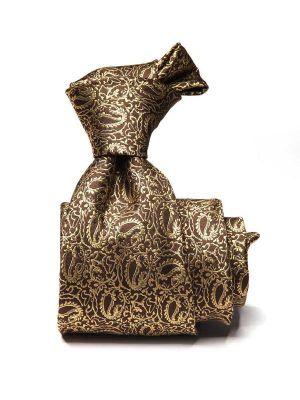 Bartoli Paisleys Medium Beige Silk Tie