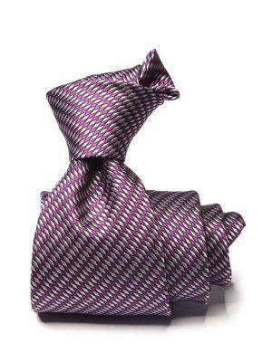 Bartoli Structure Dark Purple Silk Ties