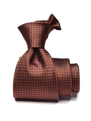 Bartoli Structure Dark Beige Silk Tie