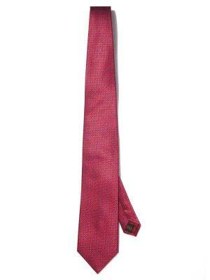 Bartoli Structure Dark Red Silk Ties