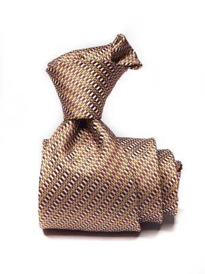 Bartoli Structure Medium Beige Silk Ties