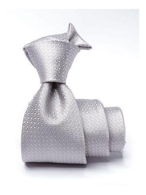 Campania Structure Grey Light Silk Tie