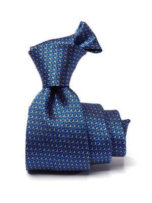 Campania Structure Blue Medium Silk Tie