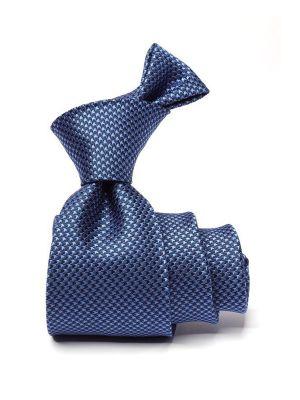 Campania Structure Blue Meduim Silk Tie