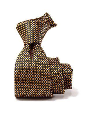Campania Stripes Dark Gold Silk Tie