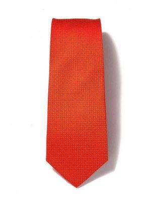 Campania Structure Dark Orange Silk Tie
