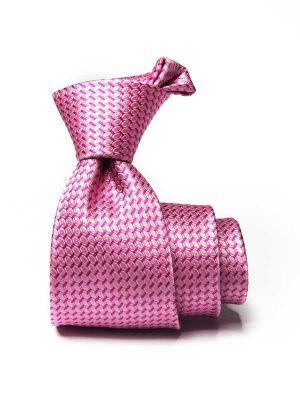 Campania Structure Medium Pink Silk Tie
