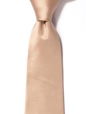 Creme DE LA creme Solid  Beige Medium Silk Tie