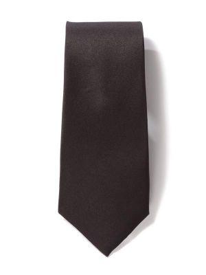 Creme DE LA creme Solid  Black Dark Silk Tie