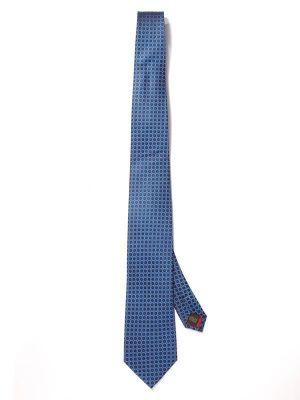 Florentine Minimals Blue Dark Silk Tie