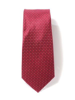 Florentine Minimals Red Dark Silk Tie
