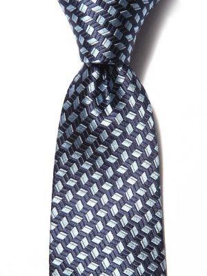 Florentine Minimals Dark Blue Silk Tie