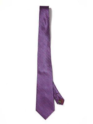 Florentine Minimals Medium Purple Silk Tie