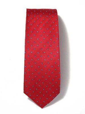 Florentine Minimals Dark Red Silk Ties