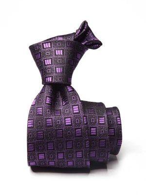 Florentine Minimals Medium Purple Silk Ties