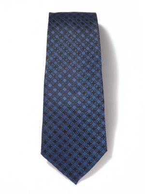 Florentine Minimals Dark Blue Silk Ties