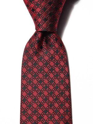 Florentine Minimals Medium Red Silk Tie