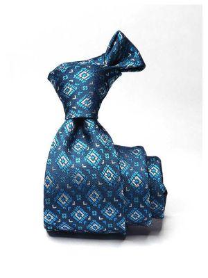 Florentine Minimals Dark Turquoise Silk Ties