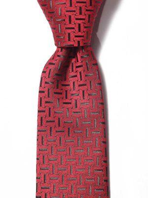 Kingcross Structure Medium Maroon Polyester Ties