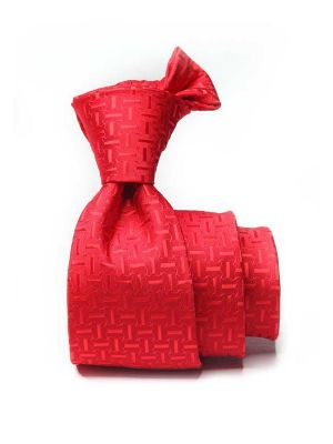 Kingcross Structure Medium Red Polyester Ties