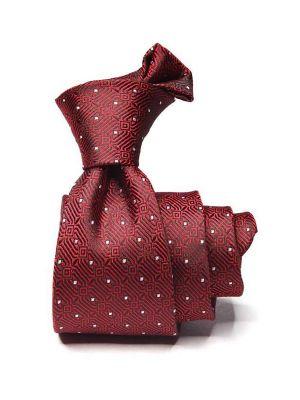 Kingcross Structure Dark Maroon Polyester Ties