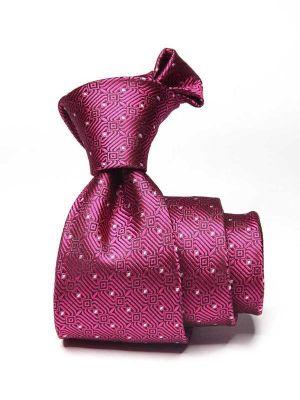 Kingcross Structure Dark Pink Polyester Ties