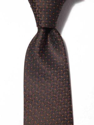 Kingcross Structure Dark Brown Polyester Tie