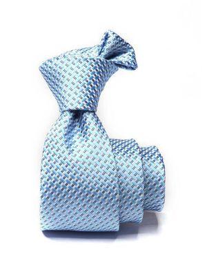 Kingcross Structure Medium Blue Polyester Ties