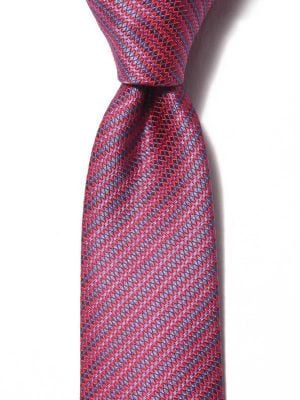 Kingcross Structure Dark Red Polyester Tie