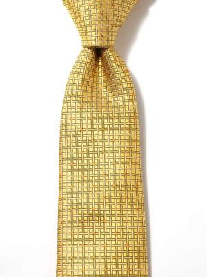 Kingcross Structure Dark Gold Polyester Tie