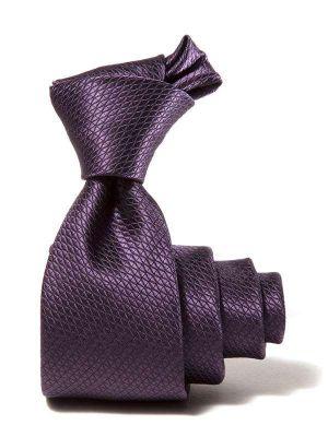 Kingcross Structure Dark Purple Polyester Tie